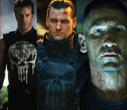 Punisher Live Action Suit Evolution